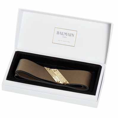 Balmain Leather HeadBand - Bronze